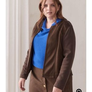 NWT Brown Faux Suede Fall Jacket Size 10